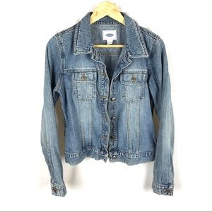 Vintage old navy jean jacket light wash
